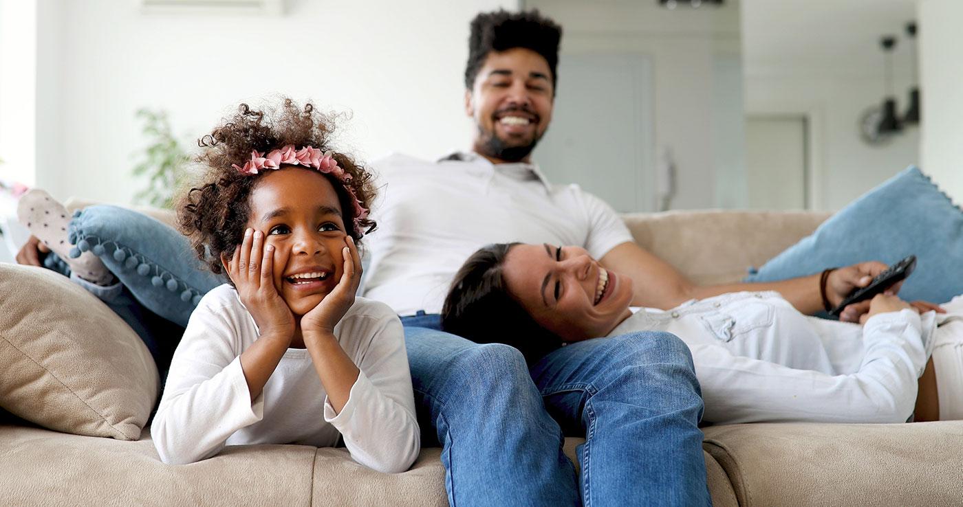 Family smiling lifestyle
