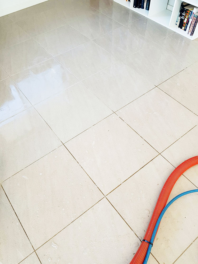 hard floor tile cleaning before and after